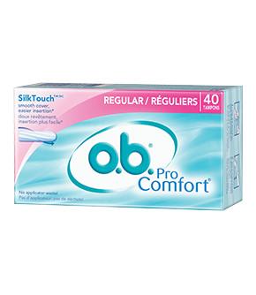 o.b.®  PRO COMFORT® Regular Tampons
