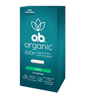 Tampons o.b. organic à absorptivité super