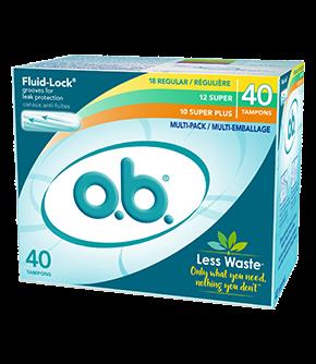 Tampons o.b. en multi-emballage