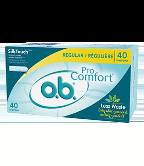 Tampons o.b. PRO COMFORT à absorptivité régulière